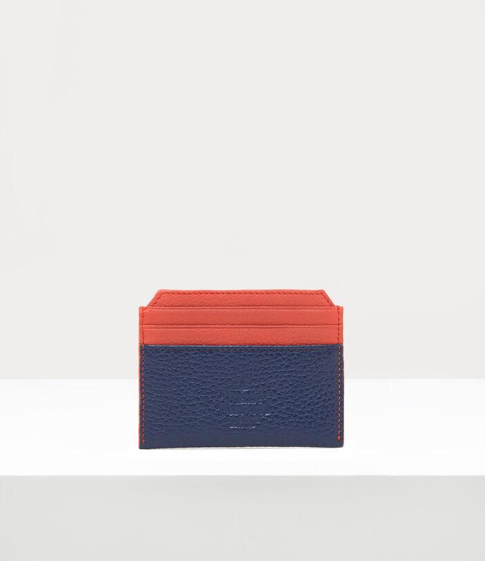 Melih Slim Card Holder Navy/ Orange 3