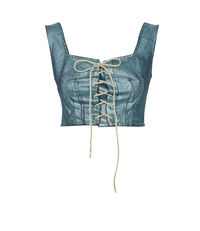 Crini Corset Laminated Denim