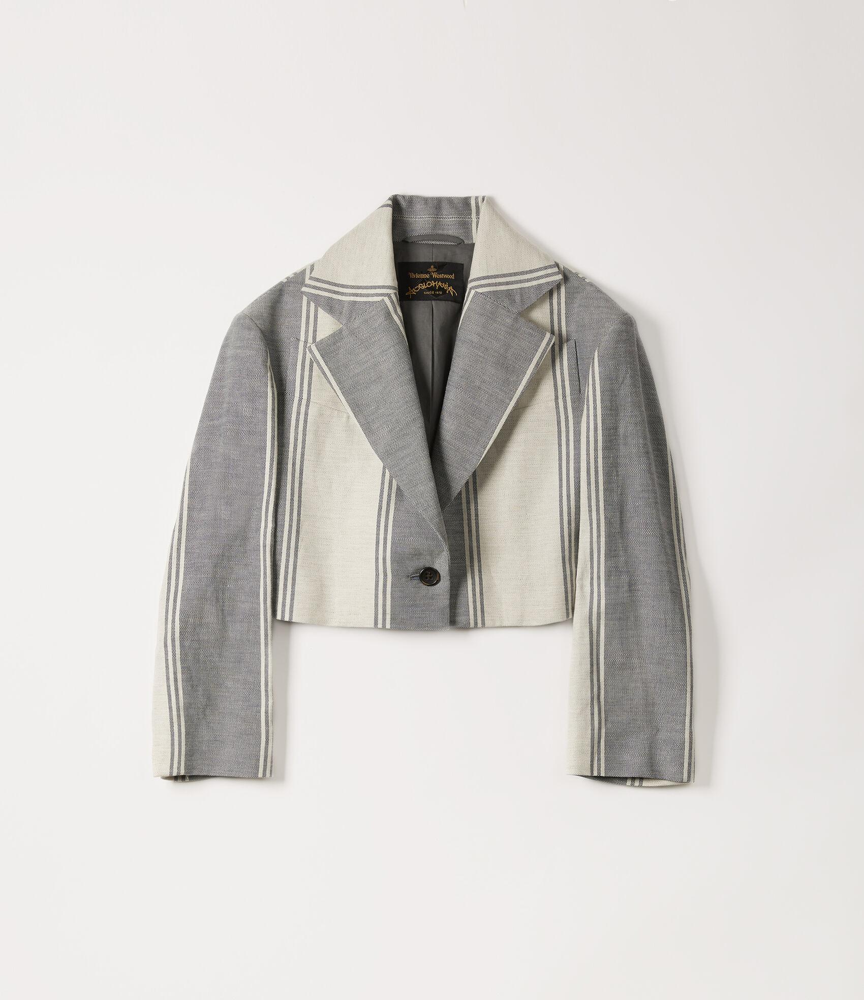 52507895609a5 Cropped Jacket Blue/White