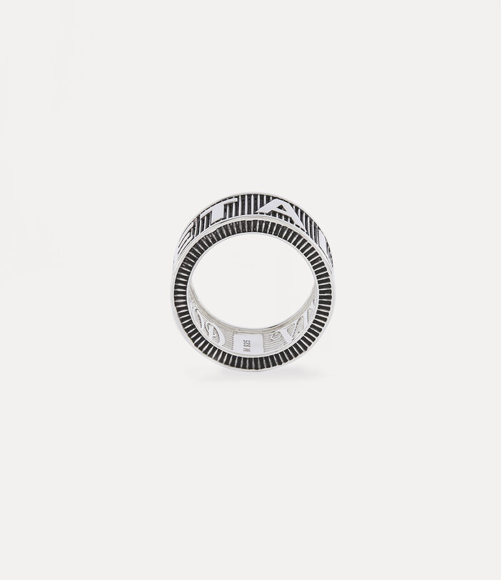 Get A Life Band Ring Silver-Tone 4