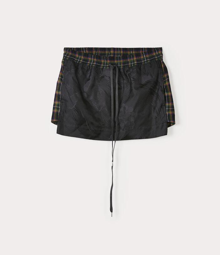Boxer Mini Skirt Black/Navy 1