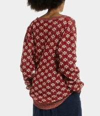 Diamonds Jumper Red/Natural Mix