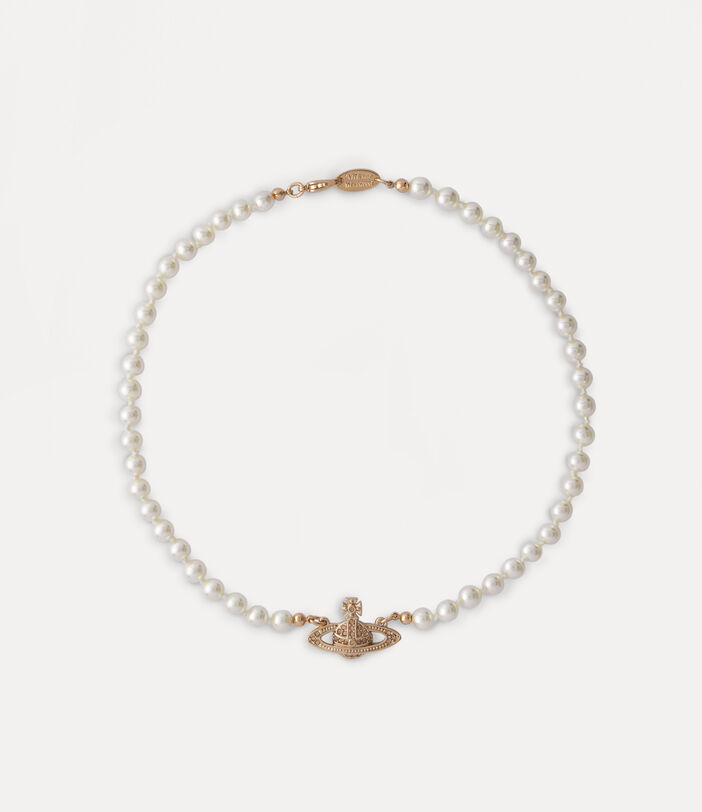 Mini Bas Relief Choker Pink Gold-Tone 1