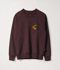 Classic Sweatshirt with Badge Bordeaux